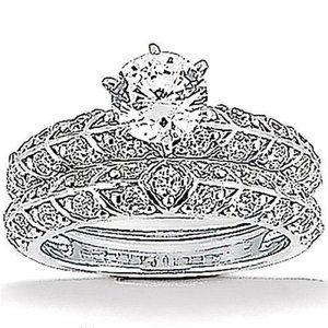 1.85 Ct. Diamonds wedding ring band set white gold